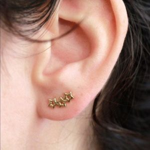 18k gold plated star PAIR of earrings
